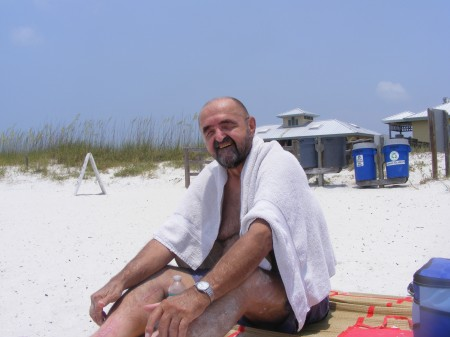 Dad on the beach, Honeymoon Island