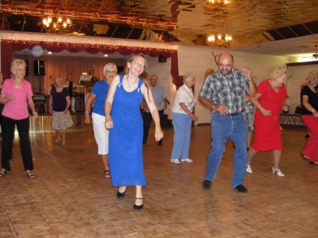 Line dancing at the Elks Club