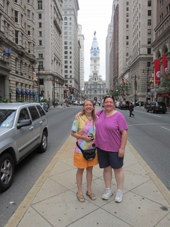 Emily & Kelly in downtown Philadelphia