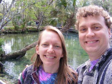 Emmy & Trav at the headwaters of Homosassa Springs