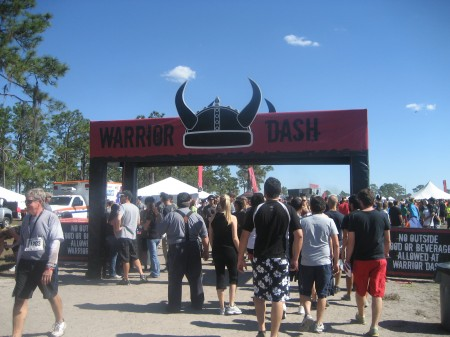 Entering Warrior Dash