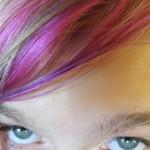 Alia's dyed hair
