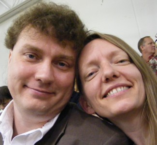 Trav & me at Tia\'s graduation