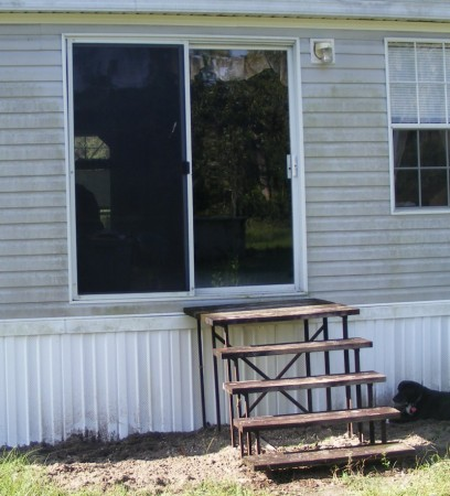 The back door - before