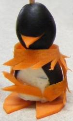 Party Penguin Wearing Boa