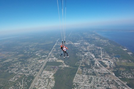 Skydiving - Parachute Opens
