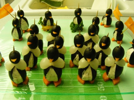 Cream Cheese Penguins - Football Field