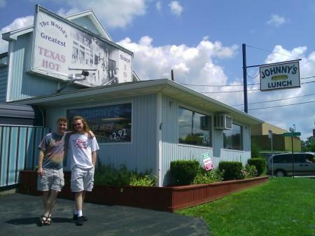 Trav & Bleys at Johnny's Lunch